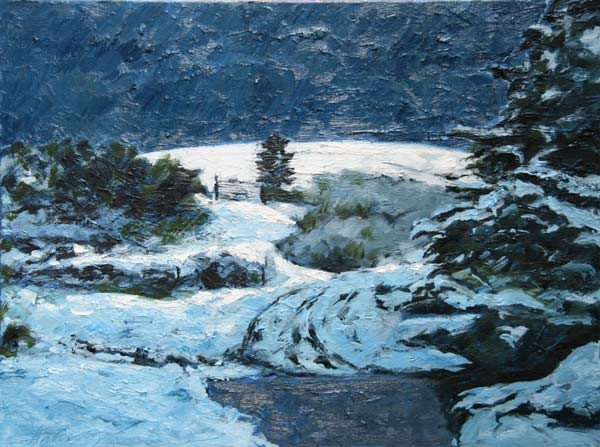 Michael Flaherty - SILENCE DESCENDING:  24 x 31.5 - OIL ON CANVAS