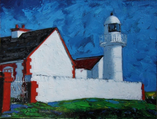 "Michael Flaherty - Dingle Bay Lighthouse - 24"" x 30"""