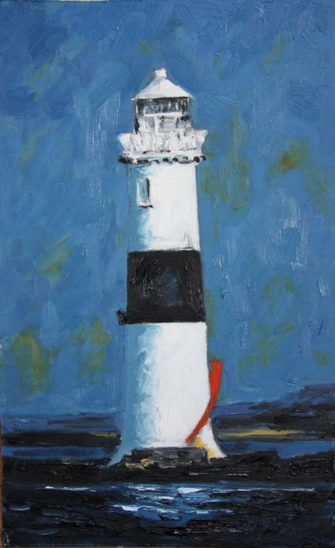 "Michael Flaherty - Lighthouse, Sligo Bay - 16"" x 24"""