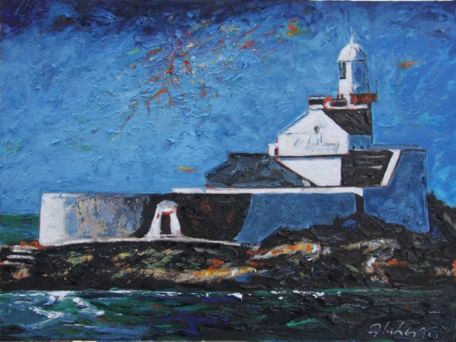 "Michael Flaherty - Fenit Lighthouse l, 24"" x 30"""