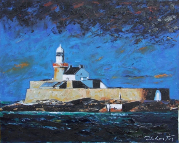 "Michael Flaherty - Fenit Lighthouse ll,  24"" x 30"""