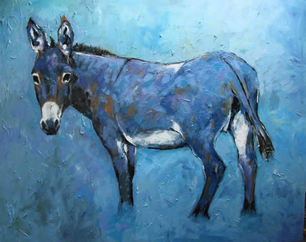 "Michael Flaherty - Donkey : 36"" x 48"""