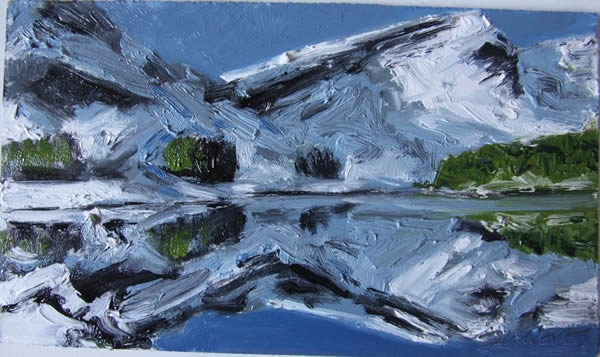 Michael Flaherty - REFLECTIONS GLENTEENASSIG 3:  9 x 12 - OIL ON BOARD