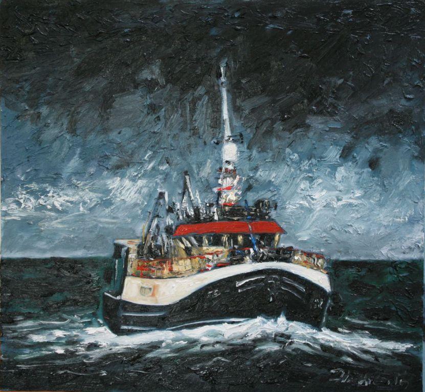 "Michael Flaherty - Trawler l,  28"" x 30"""