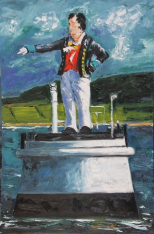 "Michael Flaherty - The Metal Man, Sligo, 36"" x 24"""