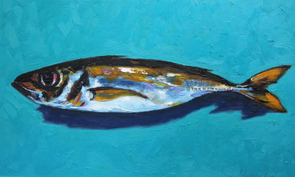 "Michael Flaherty -  Fish:  16"" x 20"""