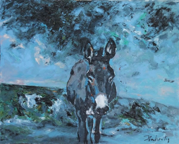 "Michael Flaherty - Donkey 2 :  24""x 30"""