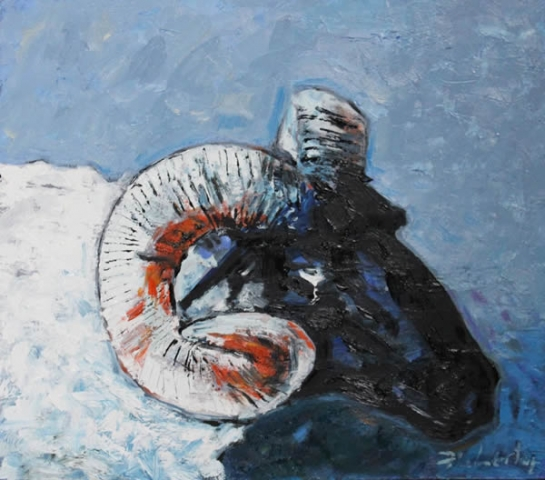 "Michael Flaherty - Weepy Sheep:  18"" x 18"""