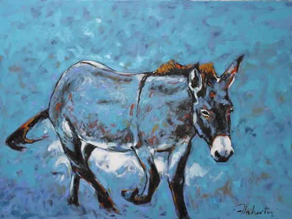 "Michael Flaherty - Donkey 3:  30"" x 40"""
