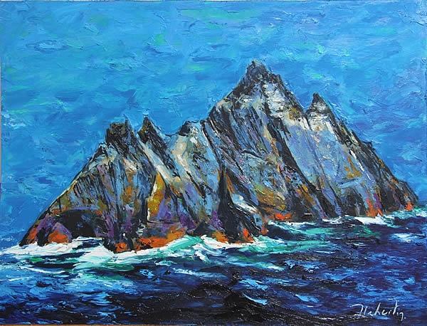 "Michael Flaherty - Skellig: 24""x 32"""