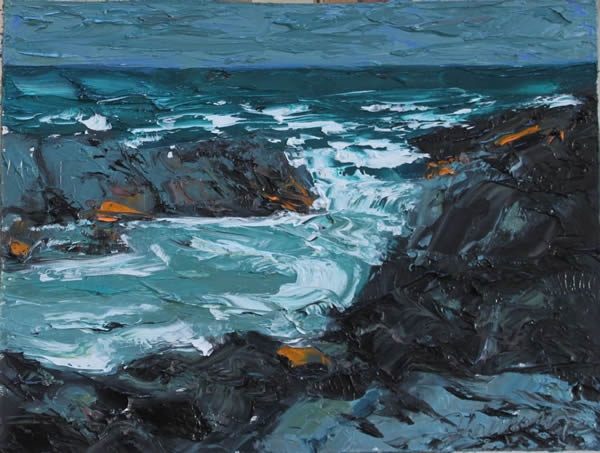 "Michael Flaherty - Sea Series 1:  9""x 12"""