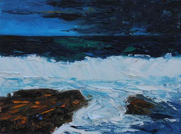 "Michael Flaherty - Sea Series 4:  9""x 12"""