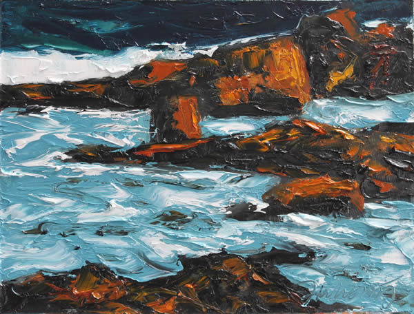 "Michael Flaherty - Sea Series 9:  9""x 12"""